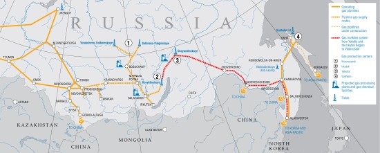 Map_East - Image source - Gazprom.com